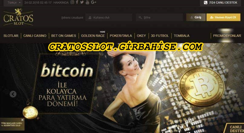 cratosslot bitcoin odemesi